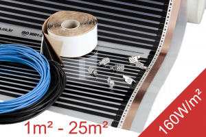 eBay Heating Film Kit 1-25m2 160W m2