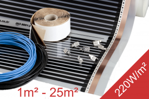 eBay Heating Film Kit 1-25m2 220W m2