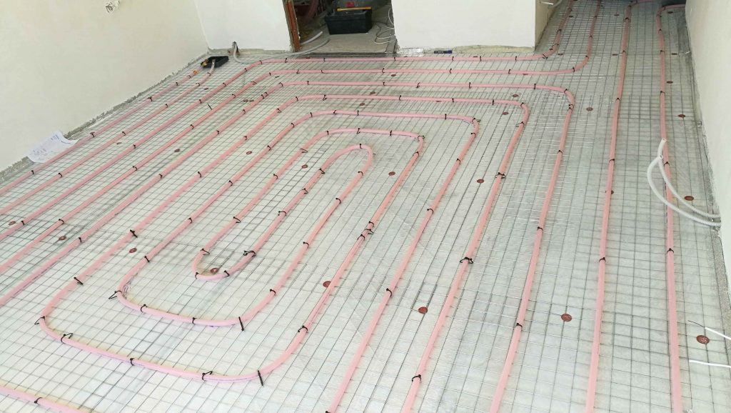 xl pipe installation electric water underfloor heating